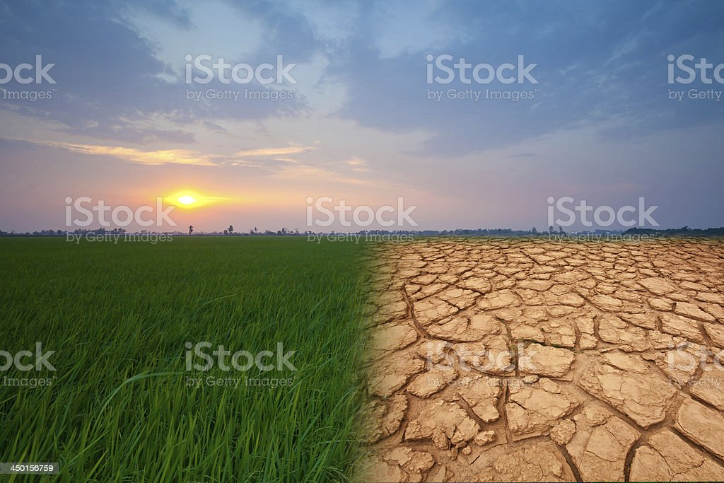 landscape with sunset stock photo