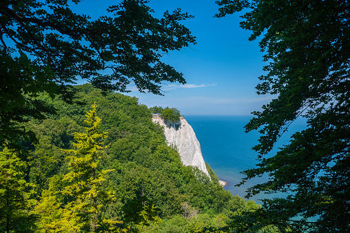 Landscape with the chalk cliffs Königsstuhl near Sassnitz