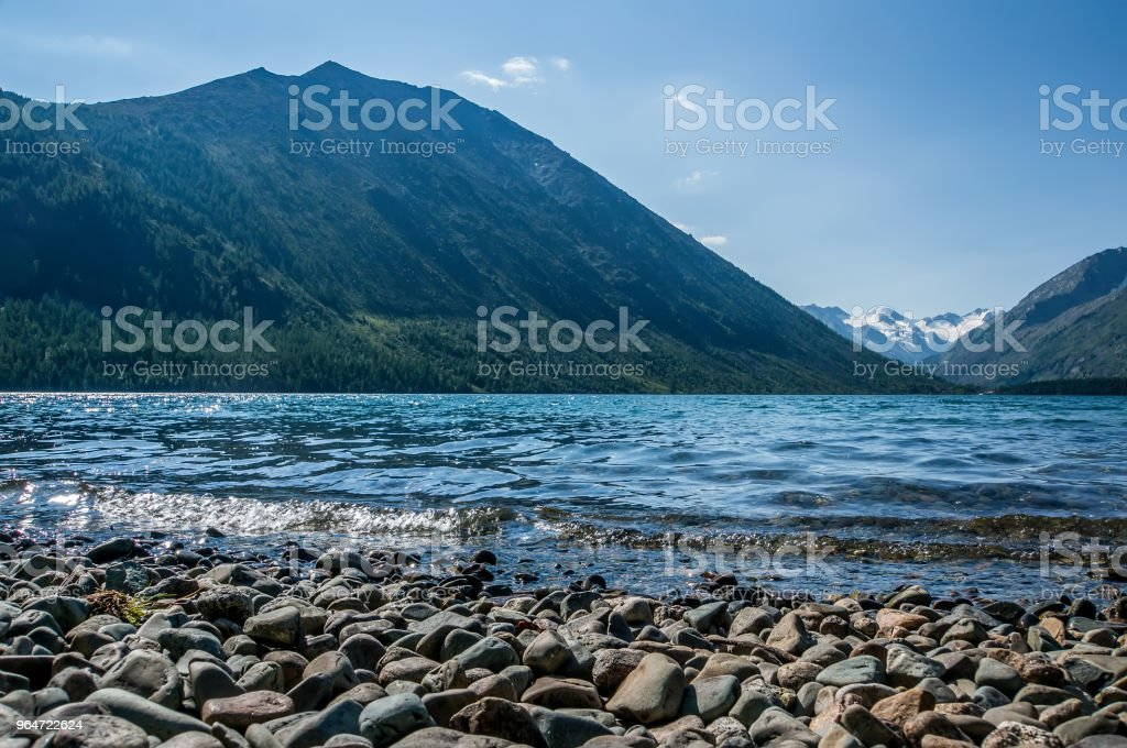 Landscape with the image lake and the mountains in Altai. royalty-free stock photo