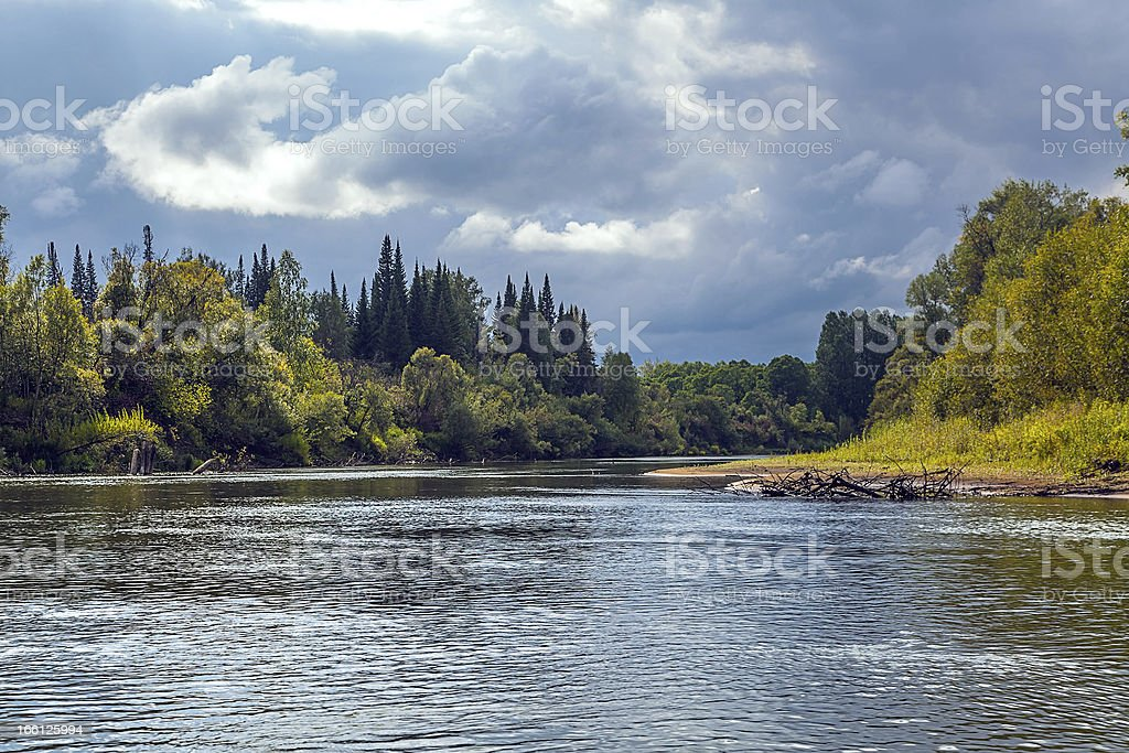Landscape with the river royalty-free stock photo