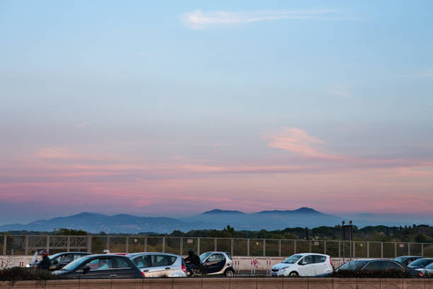 landscape with traffic - roma foto e immagini stock