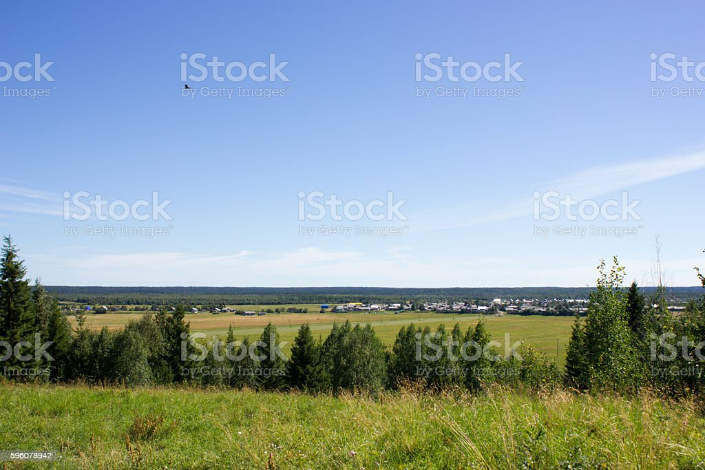 Landscape with village from high point royalty-free stock photo