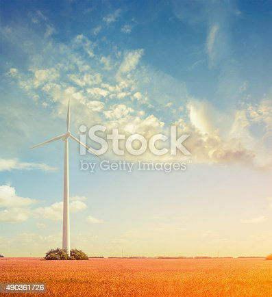 892160114 istock photo landscape with wind Generators, ecology concept 490361726