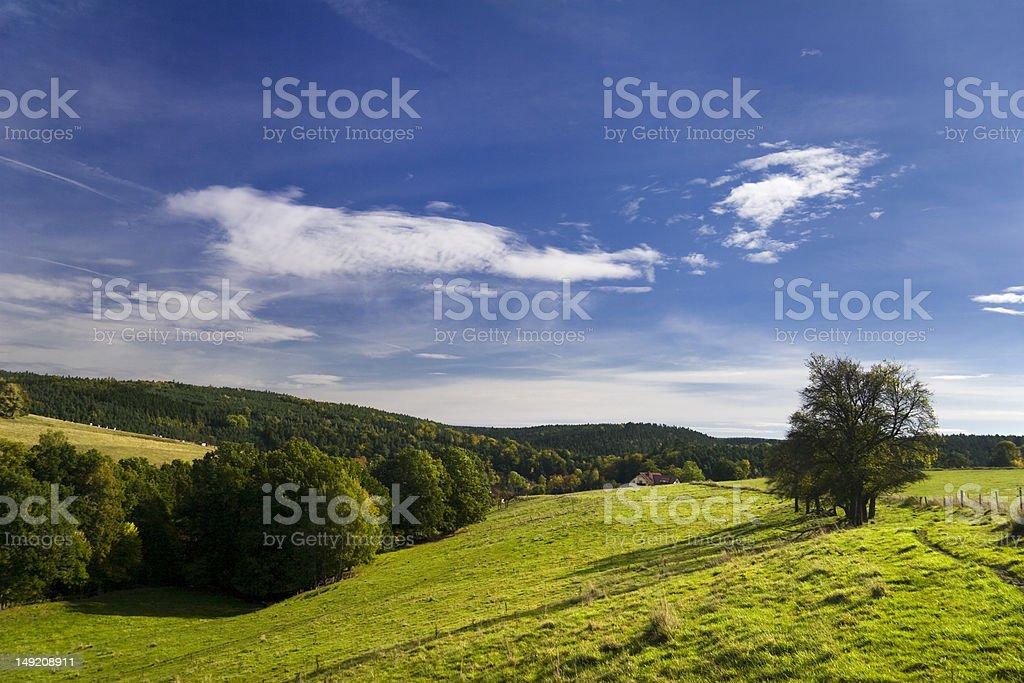 Landscape Wolfersdorf stock photo