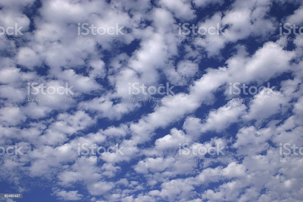 Landscape - Wonderful blue sky and clouds royalty-free stock photo