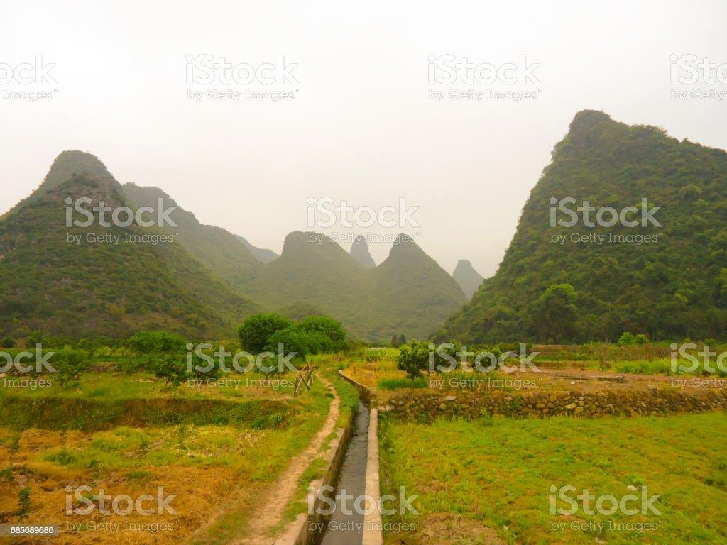 Landscape, Yangshuo, China Lizenzfreies stock-foto