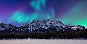 landscape-aurora and mountain