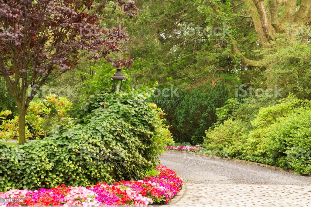 Landscaped Driveway stock photo