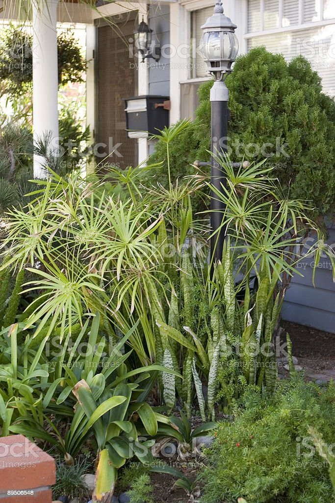 Landscaped Entryway royalty-free stock photo