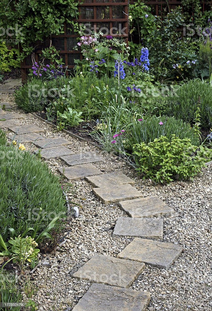 Landscaped Garden Path royalty-free stock photo