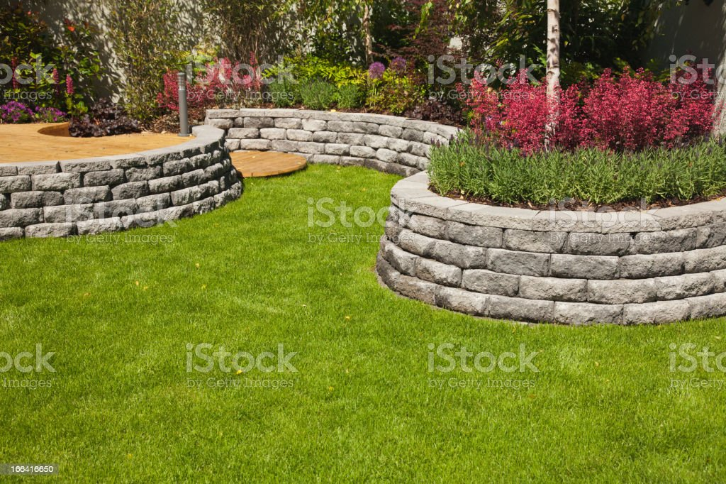 Landscaped Garden royalty-free stock photo