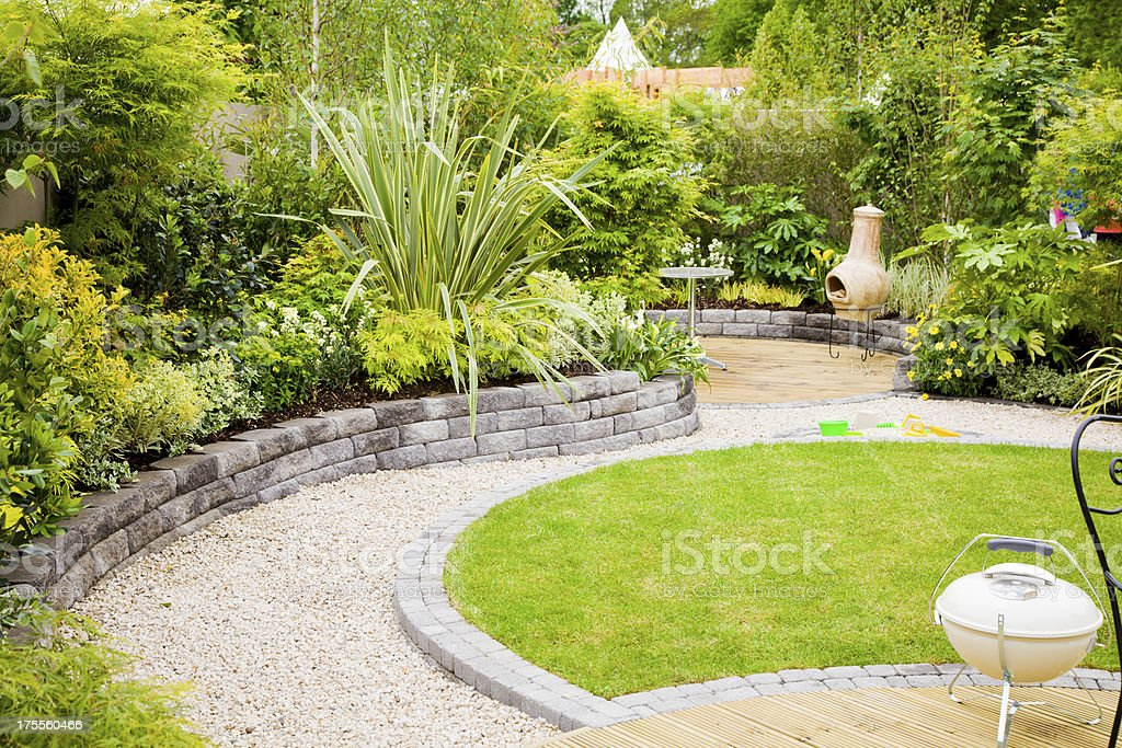 Landschaftlich gestalteten Garten – Foto