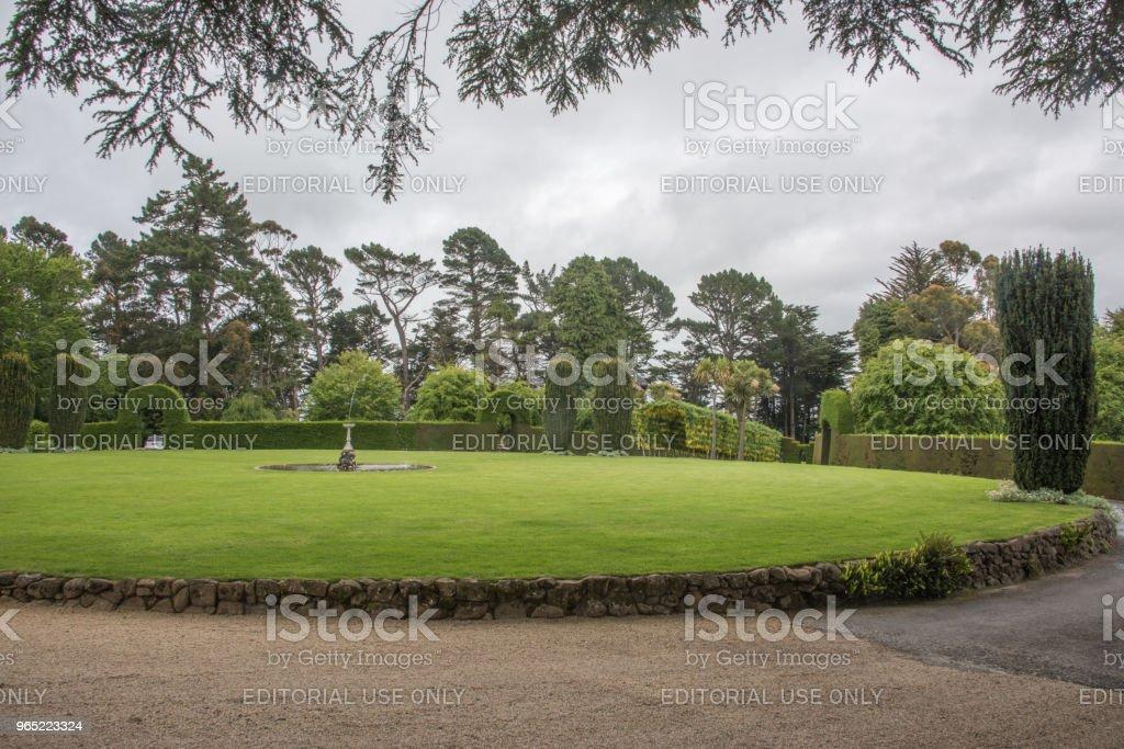 Landscaped Gardens: Larnach Castle royalty-free stock photo