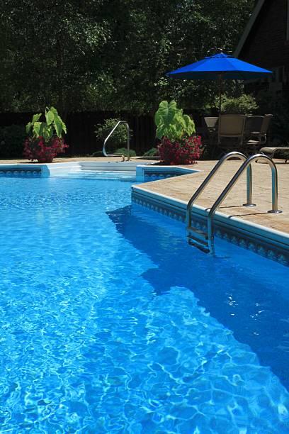 Landscaped Pool stock photo