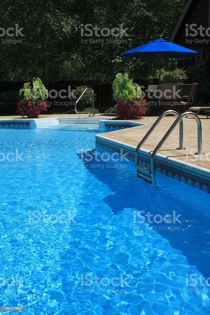 Landscaped Pool stock photo