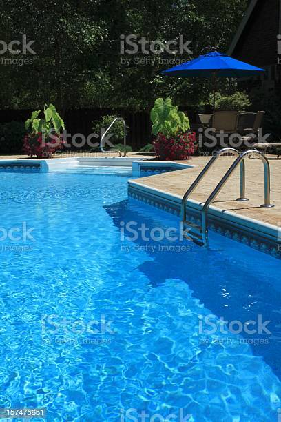 Landscaped Pool Stock Photo - Download Image Now
