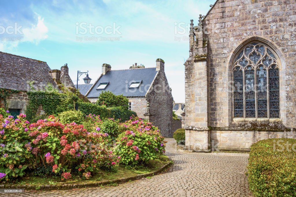 Landscapes and architectures of Brittany stock photo