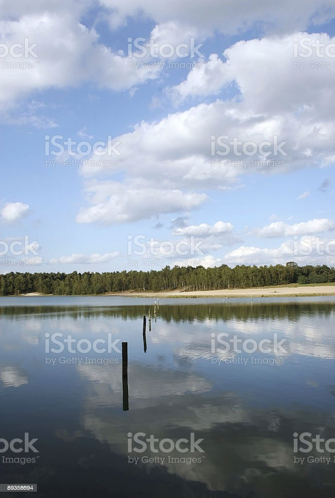Landscapes around a lake - serie 1 royaltyfri bildbanksbilder