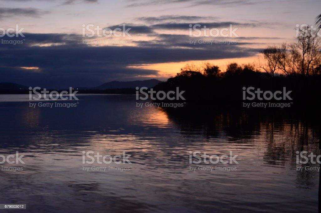 paysages dans le lagon de Saguaçu photo libre de droits