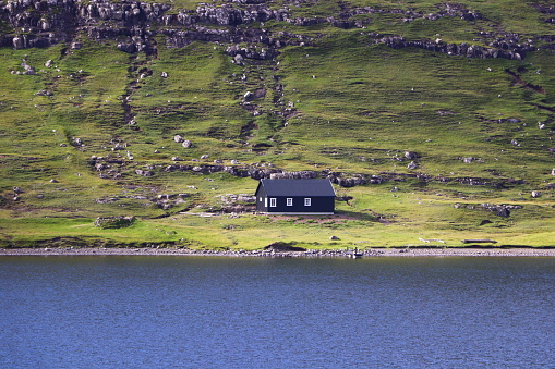 Landschappen Van Faeröer Stockfoto en meer beelden van Bewolkt