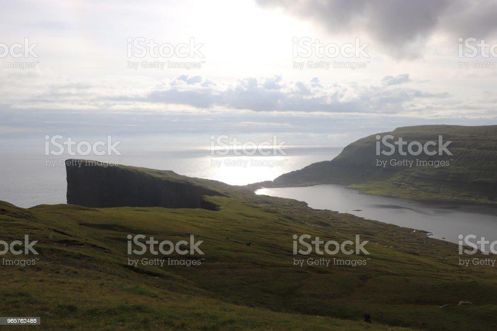 Landschappen van Faeröer - Royalty-free Bewolkt Stockfoto