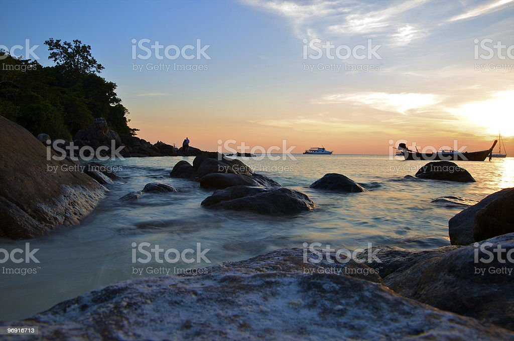 Landscapes of the Adaman sea royalty-free stock photo