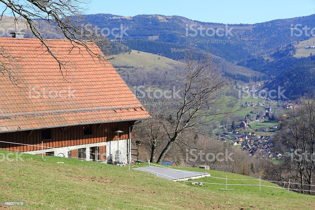 Landscapes of the Vosges, France stock photo