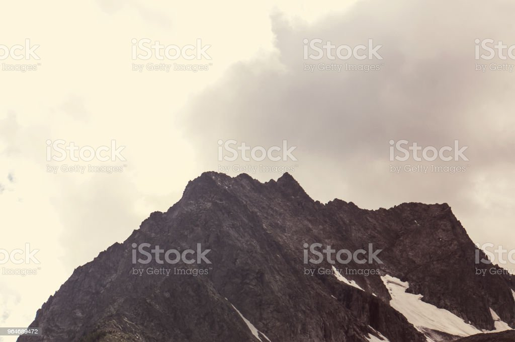 Landscapes on Denali highway.Alaska. Instagram filter. royalty-free stock photo