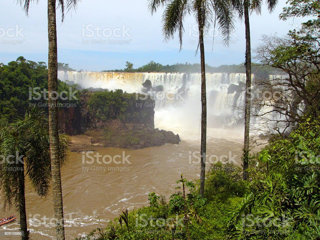 Landscape.Waterfall royalty-free stock photo