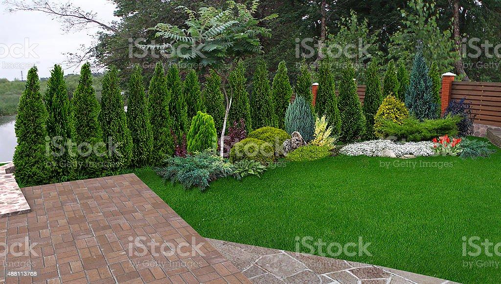 Photo de Paysage Evergreen Intimité écran Rendu 3d - Image Libre de ...