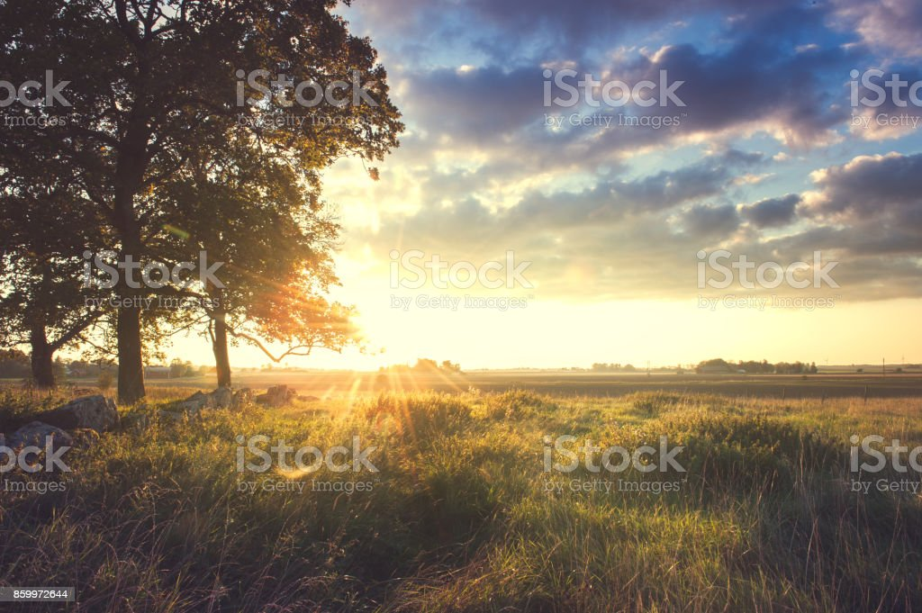 Landskap i Sverige stock photo