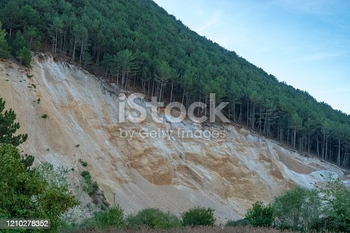 A landslide caused by erosion