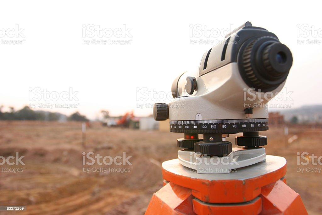 Landsurveyor royalty-free stock photo