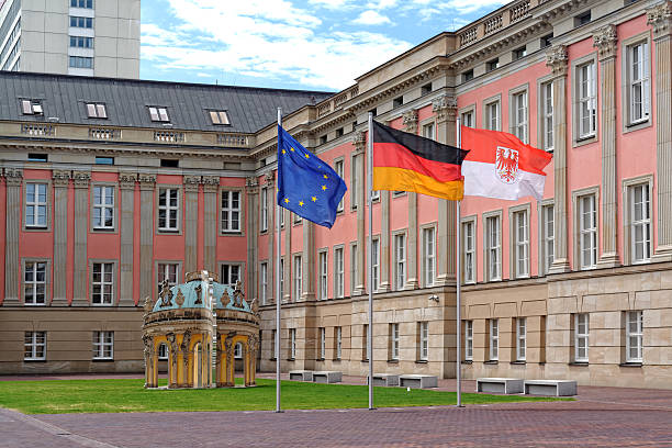 landtag branderburg in potsdam, 독일 - 브란덴부르크 주 뉴스 사진 이미지