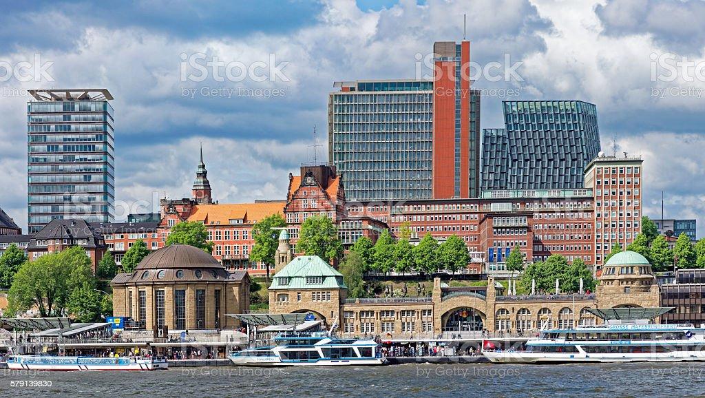 Landungsbrücken stock photo