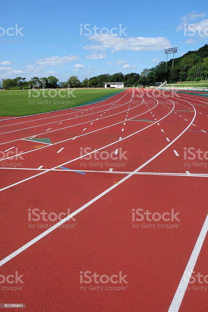 lane in stadium stock photo