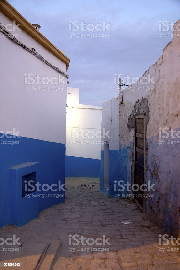 Lane in the Kasbah of the Udayas, Rabat stock photo