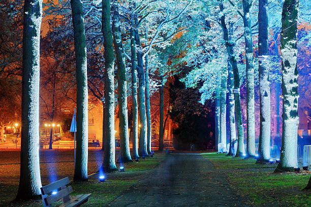 glow lane - eindhoven city stockfoto's en -beelden