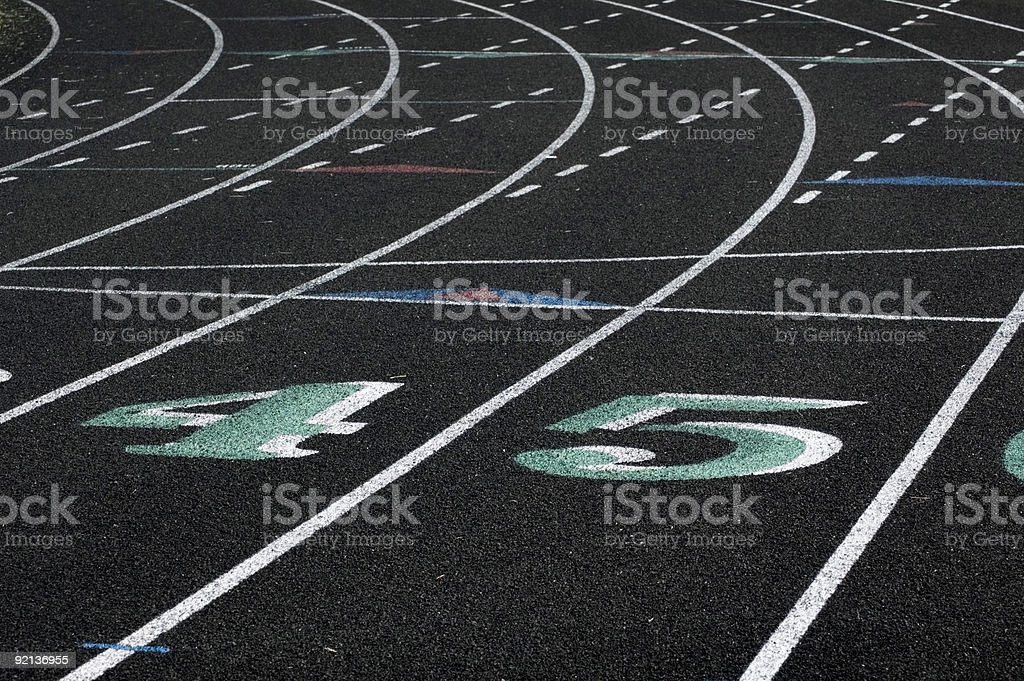 Lanes Four and Five royalty-free stock photo