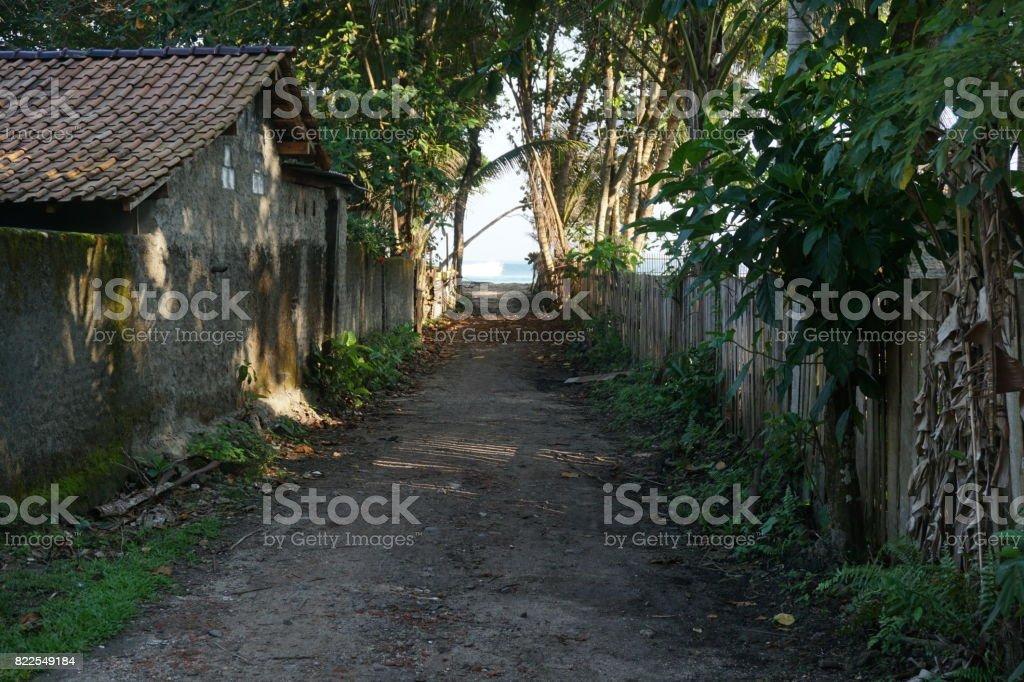 Laneway to beach stock photo