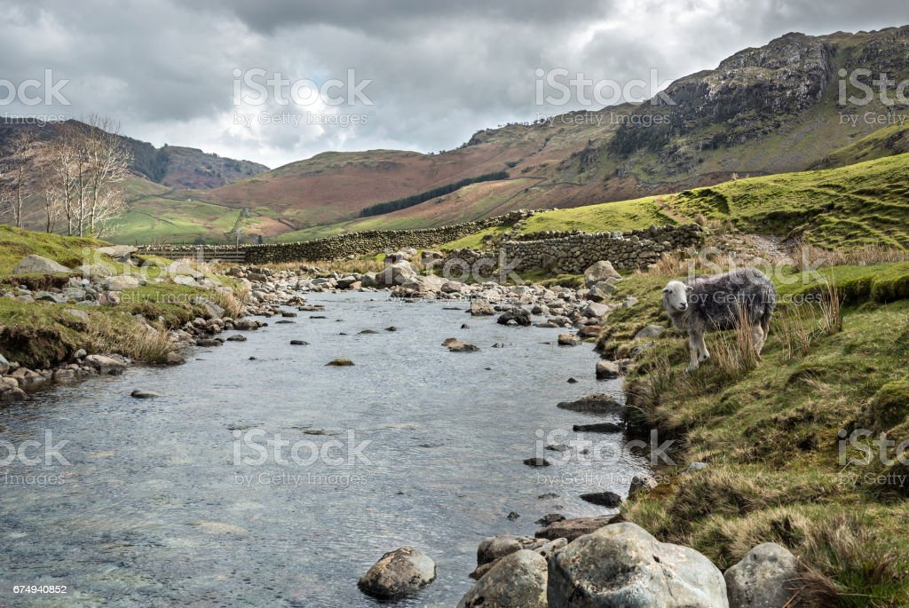 Langdale Fell Cumbrian Lake District stock photo