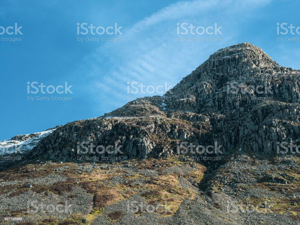 Langdale Pike in English Lake District stock photo