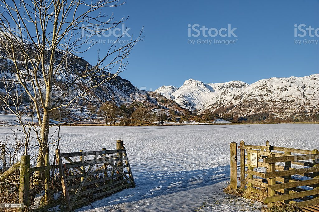 Langdale Pikes mountains royalty-free stock photo