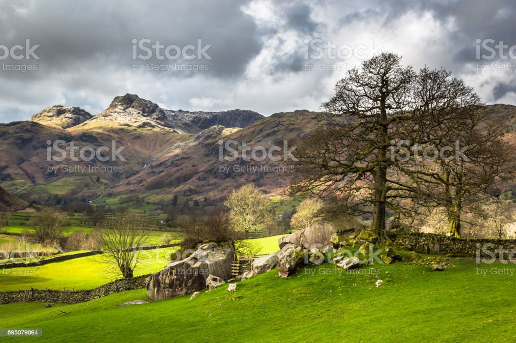 Langdale Pikes stock photo
