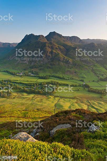 Photo of Langdale Pikes summer sunrise Lake District Cumbria