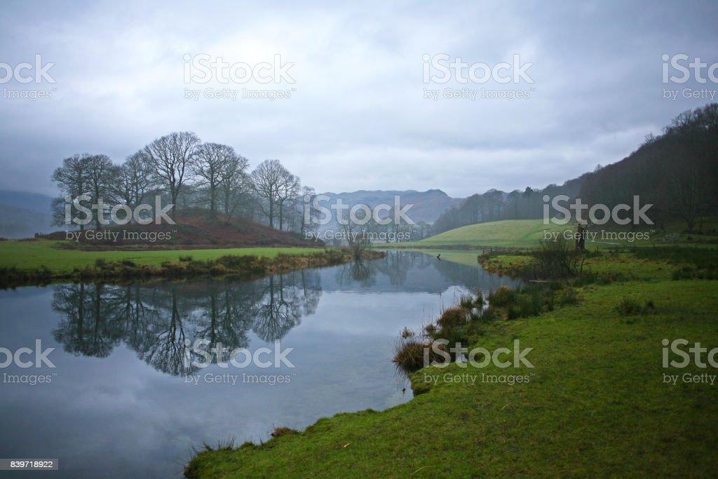 Langdale Valley in December stock photo