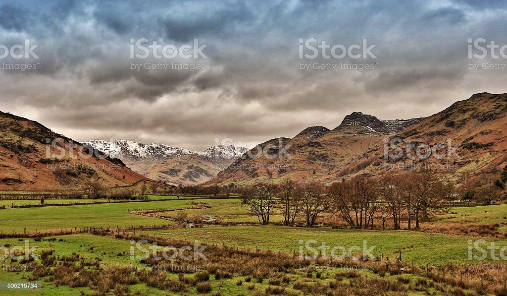 Langdales Lake District stock photo