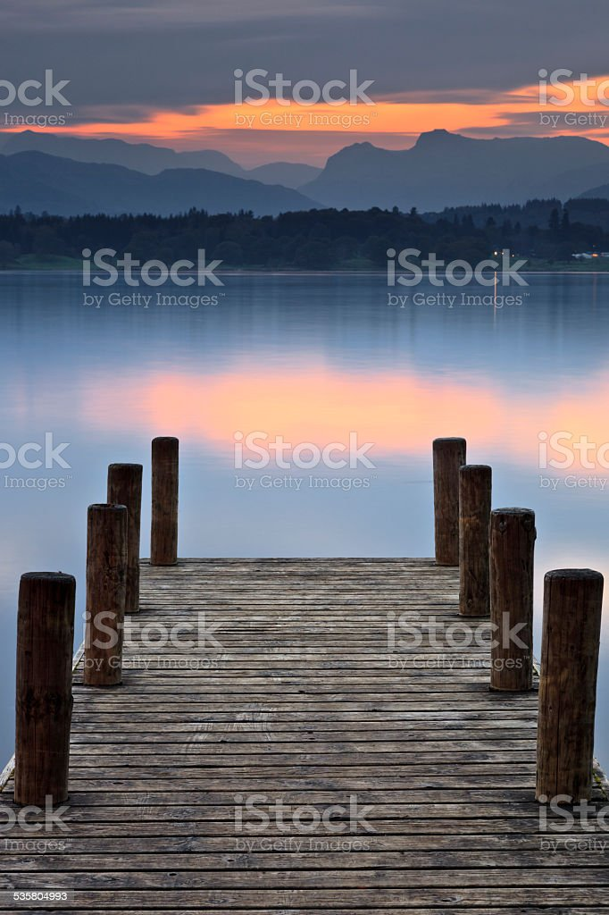 Langdales Over Windermere stock photo