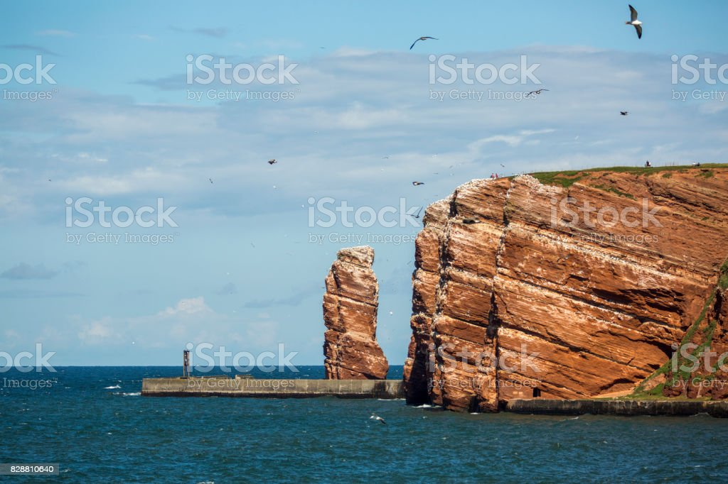 Lange Anna - the high sea stack on the island of Helgoland stock photo