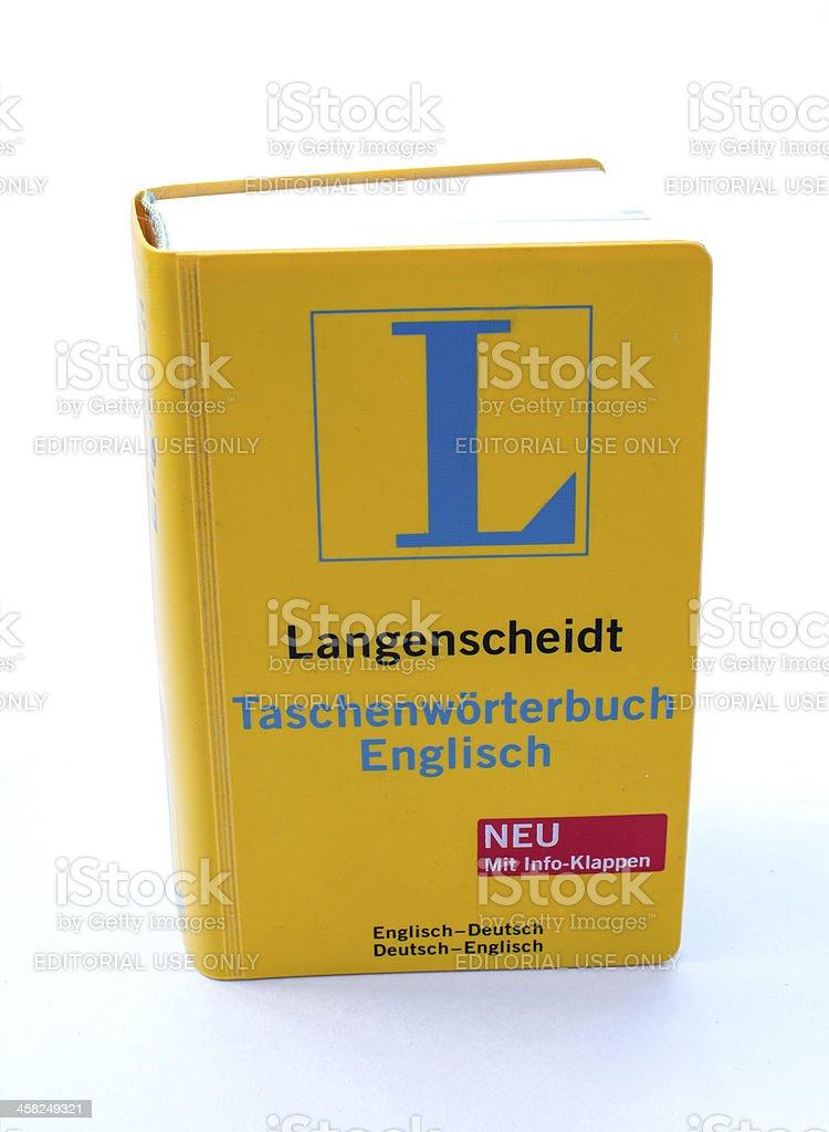 Langenscheidt Dictionary royalty-free stock photo